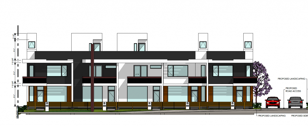 Rendering of the new townhomes in the proposed Marmalade Courtyards project. Image courtesy Salt Lake City.