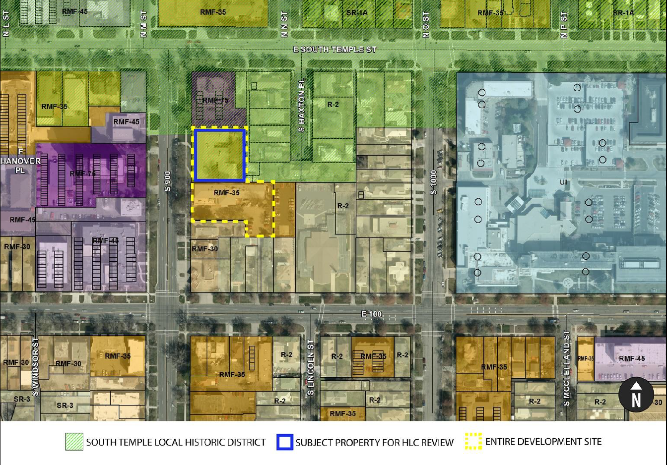 Zoning Map Of 900 East Block Of South Temple Building