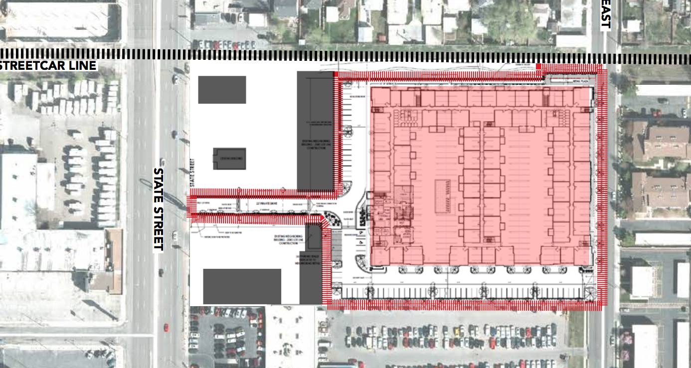Site Plan Ritz Classic Apartments Building Salt Lake