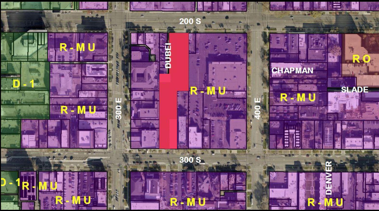 Broadway Apartments zoning map - Building Salt Lake on